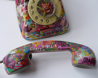 tutorial telephone decoupage