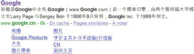 google chine snippet