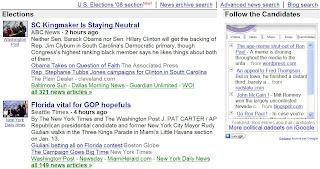 couverture des elections americaines dans google actualites