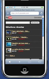 youtube pour mobiles