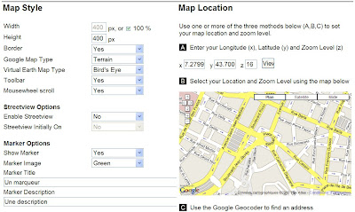carte double google maps virtual earth