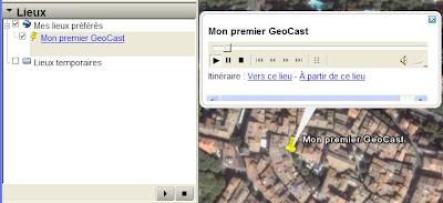 Google Earth et le GeoCasting