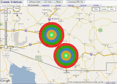 tracer des cercles dans google earth