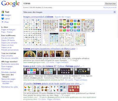 Google : sites avec des images