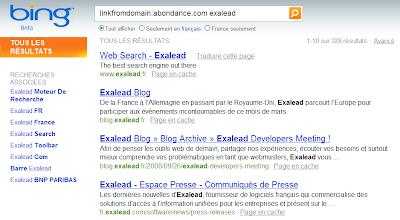 Bing : l'opérateur LinkFromDomain