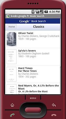 Google Livres mobile