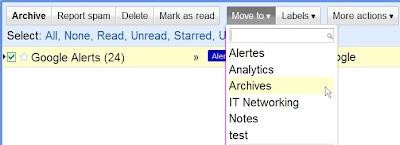 Gestion des dossiers dans Gmail