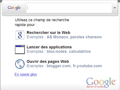 Installer la version 6 de la barre d'outils Google