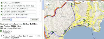 Calculer un itinéraire multidirectionnel avec Google Maps