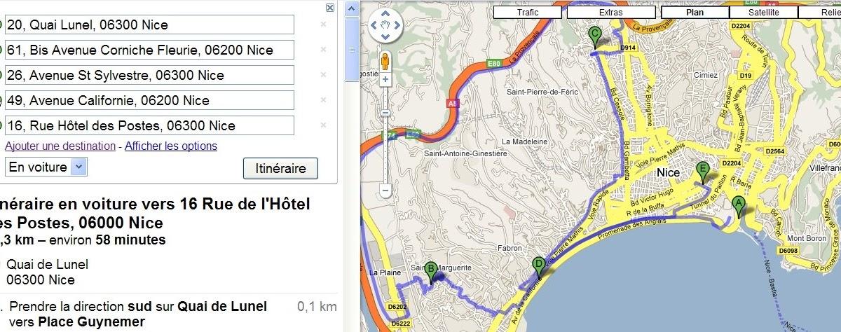 google xxl calcul d 39 itin raire avec google maps. Black Bedroom Furniture Sets. Home Design Ideas
