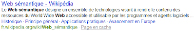 Liens de page dans Bing