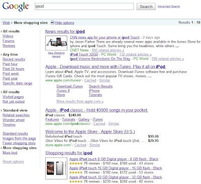 Google offre de nouvelles possibilités de filtrage