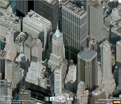 Bing Maps vue aérienne de Manhattan