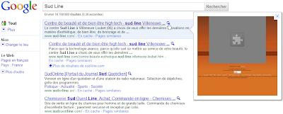 les sites prévisualisés dans Google