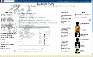 Free Download Blog Template: 4 Column Template - Dragon