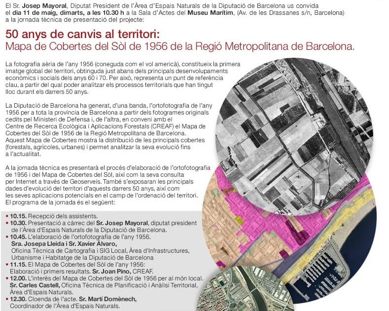Blog idee 50 a os de cambios en el territorio el mapa de cubiertas de 1956 de la regi n - Oficina de cambio barcelona ...