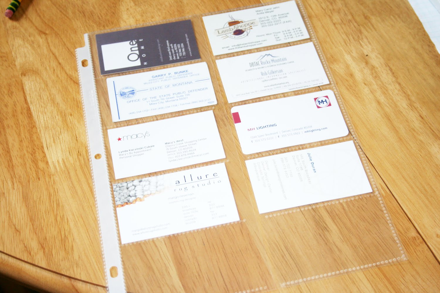 Rachel may designs paint swatch organizer you know those clear plastic business card sleeves you could use them for business cards standard but you could also use them for tons of other things colourmoves Gallery
