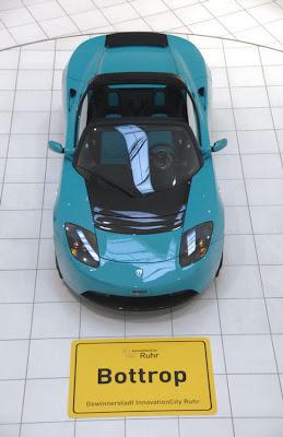 Brabus Green Telsa Roadster Sport Seen On  www.coolpicturegallery.us