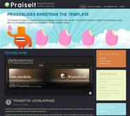Praiseit - Joomla! Blog/Portfolio Template