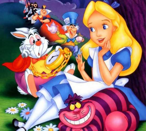 Alice Wonderland Cartoons Disney on Candy Land Coloring Page