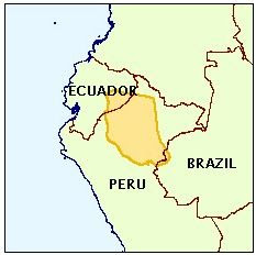 Mapa de la Cuenca del Marañon
