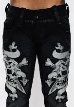 Contoh bordir celana jeans
