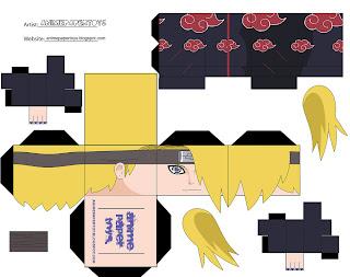 Deidara Papercraft