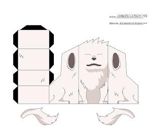 Akamaru Papercraft
