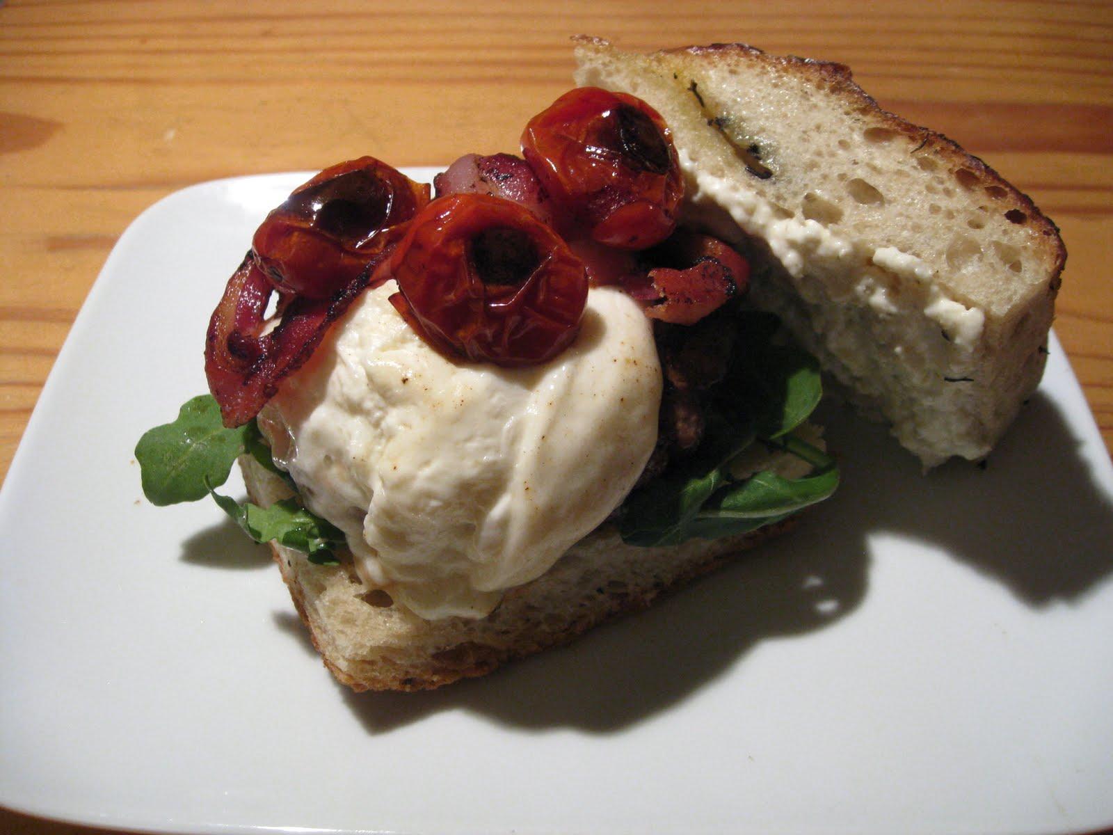 Crispy Pancetta, Burrata, And Tomato Sandwiches Recipes — Dishmaps