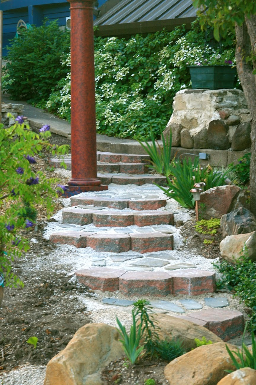 how to build garden steps on a hill