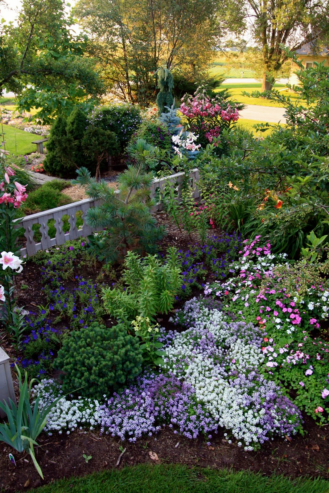 Conrad Art Glass Gardens The Cottage Garden In July