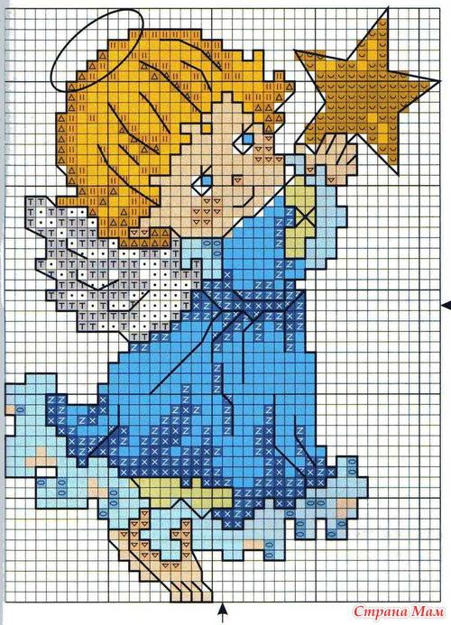 Фото схема вышивки ангелов