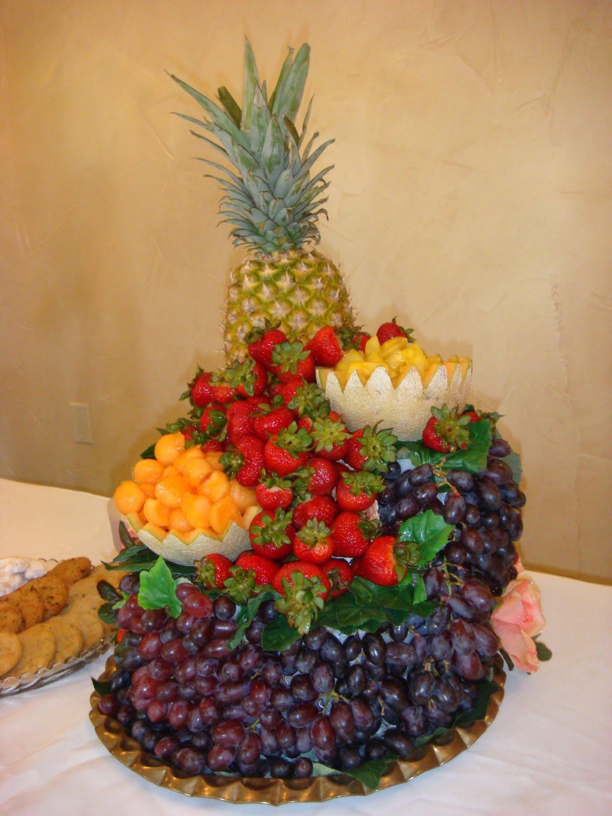 Caboose Watercolor Society Fruit Arrangement