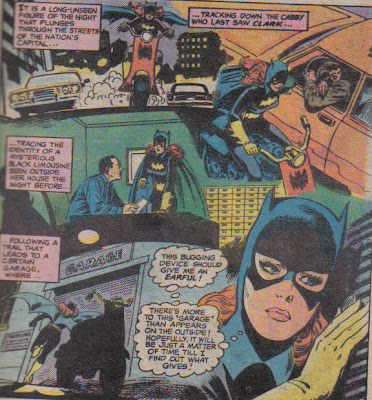 Aw, eavesdropping makes Batgirl sad.