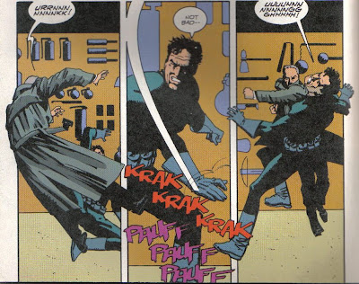 Admittedly, not a sequence that showcases Chaykin's dialog skills.