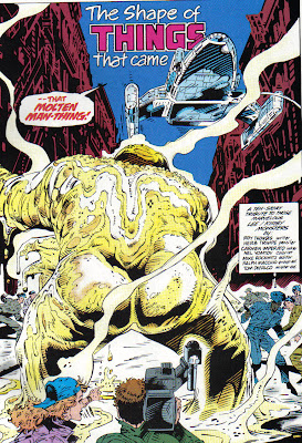Between that title and the camera squarely focused on Man-Thing's...backside, I'm going to get labeled questionable content.