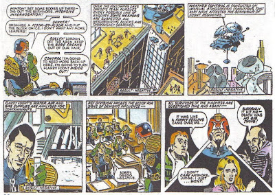 I don't usually think of Dredd as a great detective, but you can get pretty good results with psychics, lab guys, no due process...