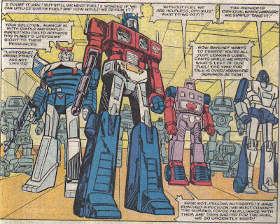 You can see Ironhide and Ratchet based off the toys, not the animation model...