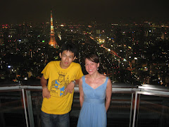 Yu and I on top of the Mori Tower