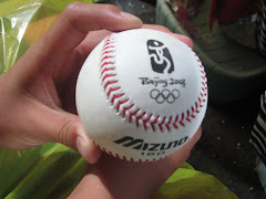 The boys next to us caught a foul ball!