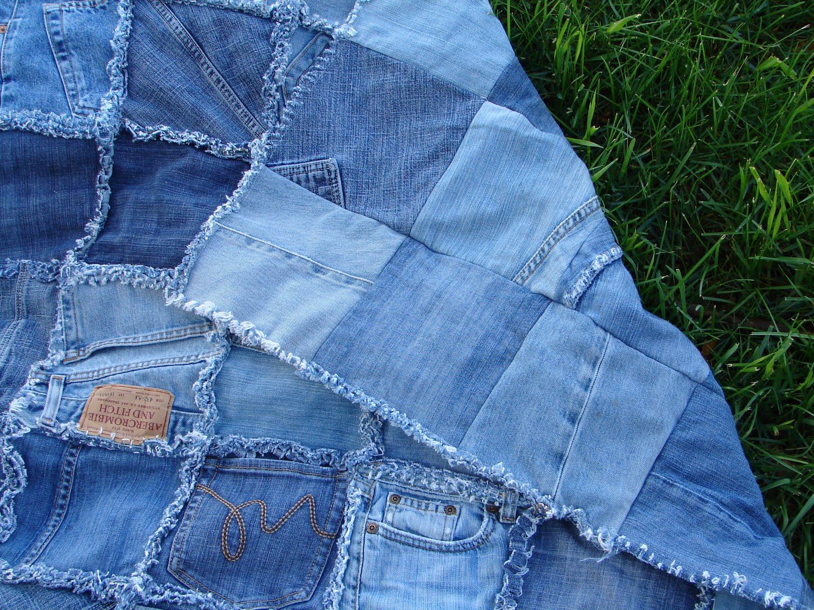 Покрывало сшитое из старых джинсов 103