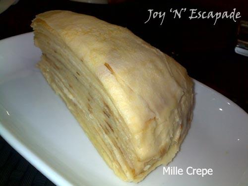 Vanilla The Mille Crepe Cafe Paradigm Mall Menu