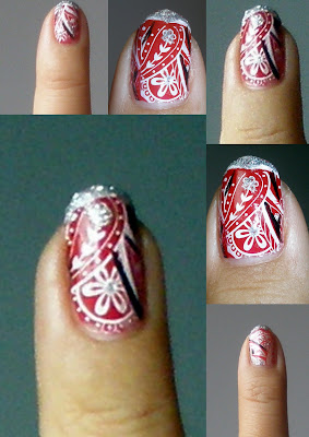 Flower Nail Design with a Hippie Touch.