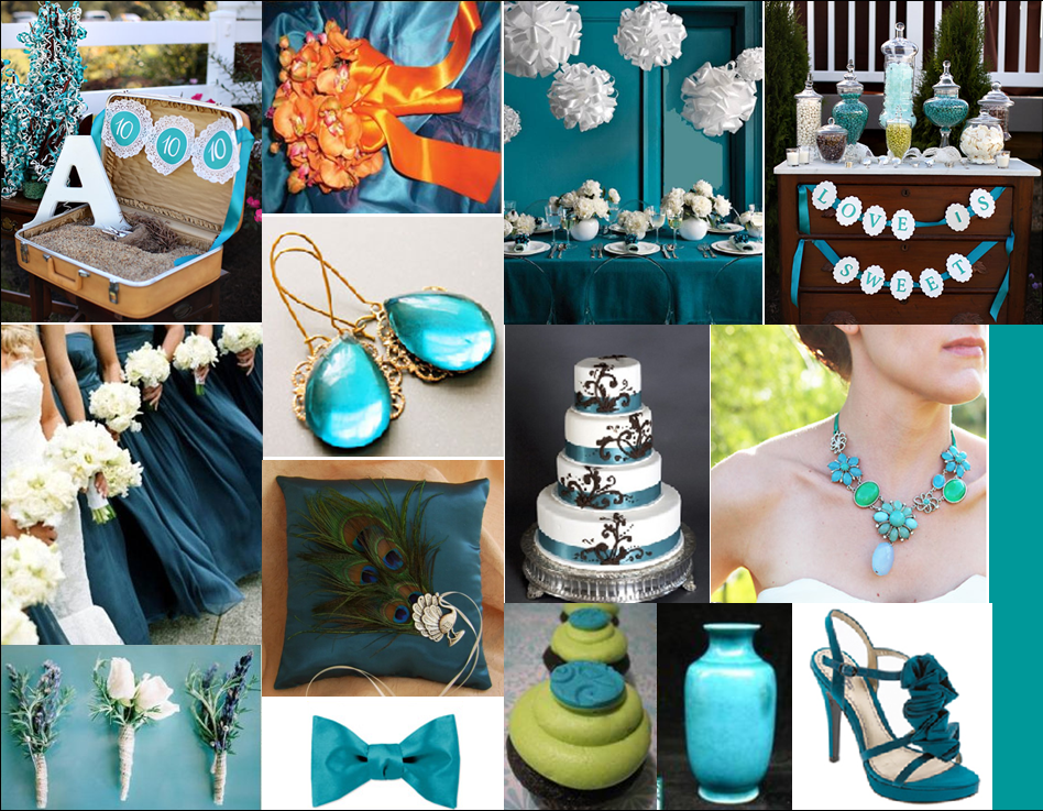 I love the color teal with browns and lighter greens for a romantic nature