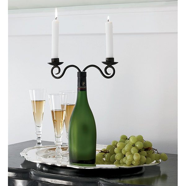 Lorrie 39 s wine and food world best wine and food lovers for Make candle holder wine bottle