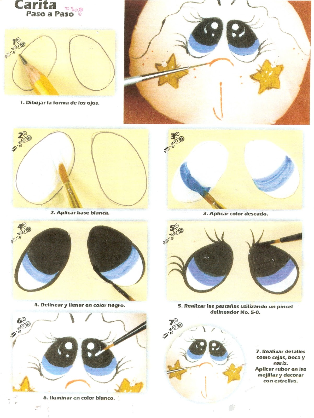 Como Pintar Ojos De Munecas