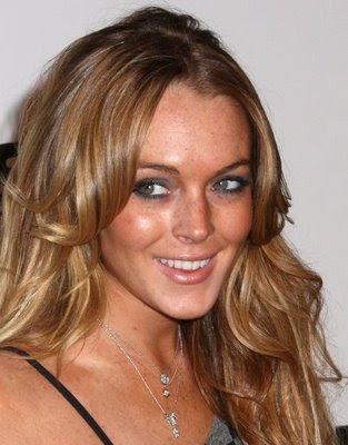 Lindsay Lohan Wavy Hairstyl