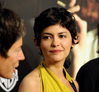 Celebrity hairstyle - Audrey Tautou in a black short hair