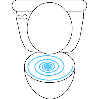 drawing of a toilet