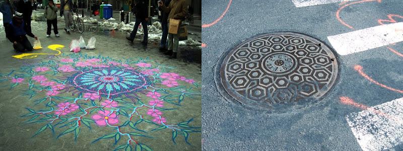 mandala & sewer cover